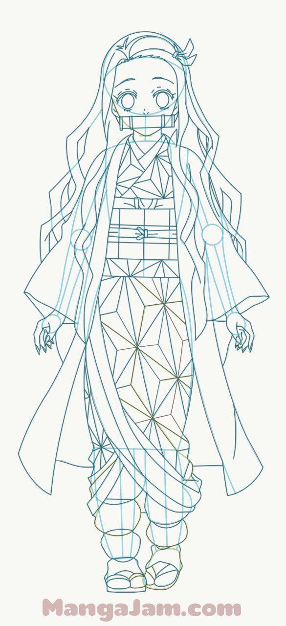 How To Draw Nezuko Kamado from Kimetsu no Yaiba in 2020