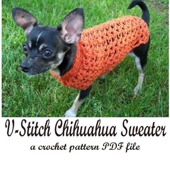 VStitch Chihuahua Sweater crochet pattern PDF | LOVE | Pinterest