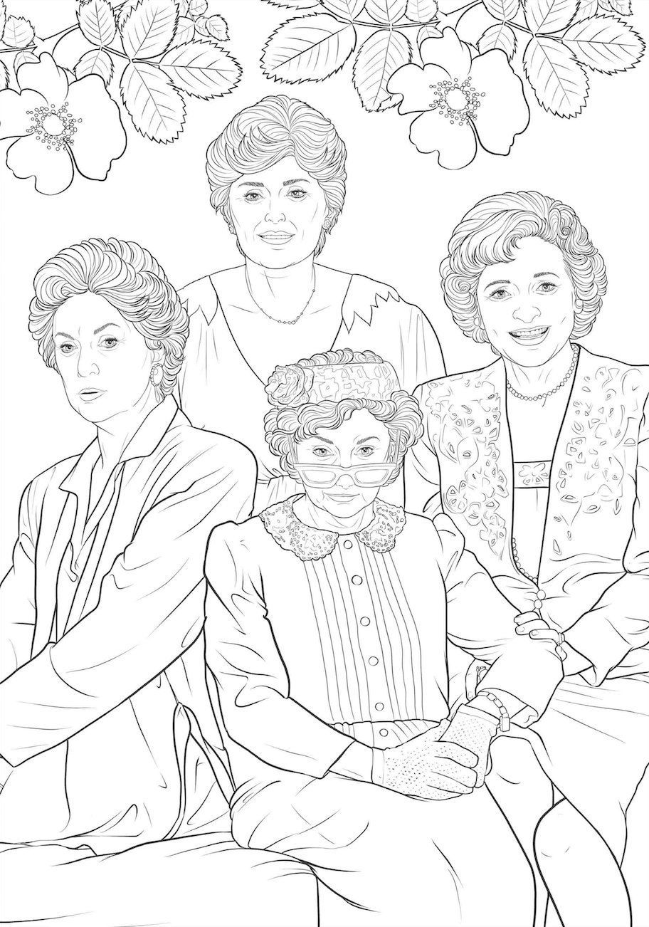 art of coloring golden girls 100 images to inspire creativity - Color Books For Girls
