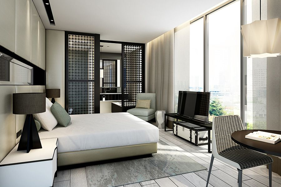 Singapore Naumi Hotel Room Design. interior ♥ commercial