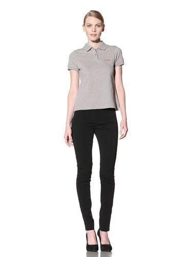 80% OFF Calvin Klein Collection Women\'s Short Sleeve Polo (Gray)