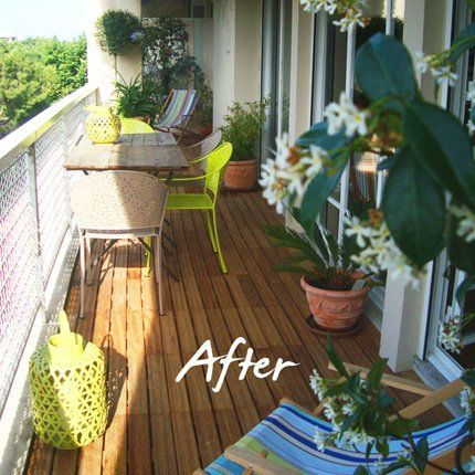 Belle r alisation de balcon on adore le jasmin au parfum for Amenagement balcon terrasse appartement