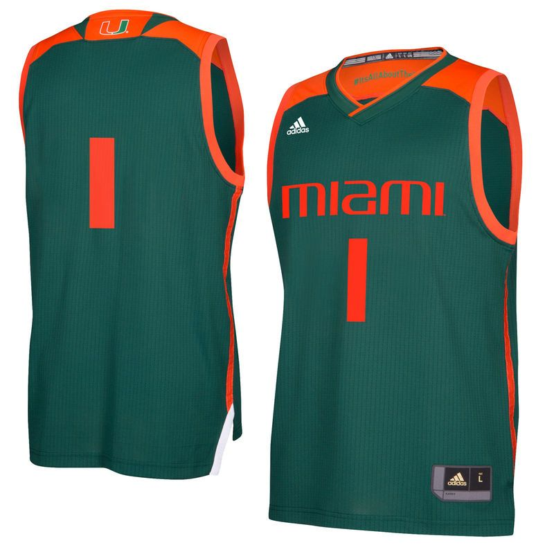huge selection of ca179 ff175 Miami Hurricanes adidas 2017 March Madness Basketball Jersey ...
