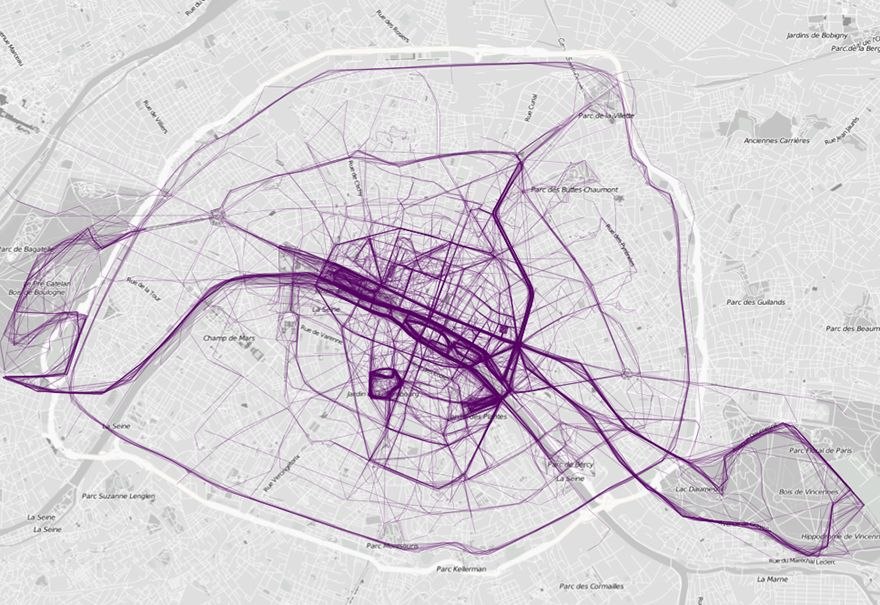 Data Visualization Site s Running Route City Maps Look Like