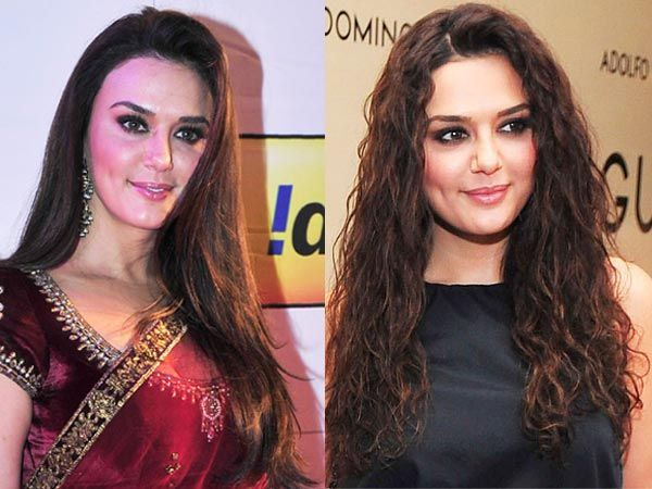 Bollywood Celeb Hairstyles Straight V S Curly Hair Styles Celebrity Hairstyles Straight Hairstyles