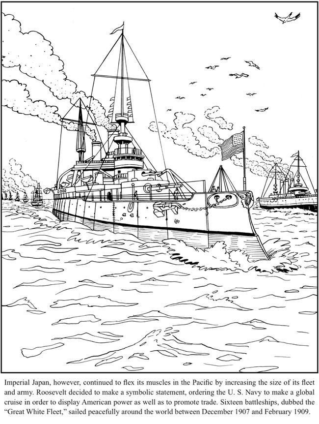 Teddy Roosevelt Coloring Book Dover Publications Dover