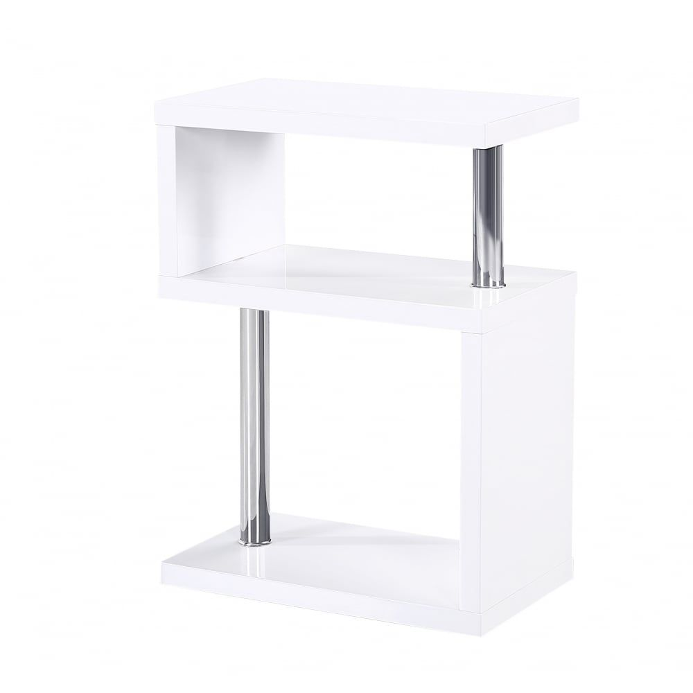 Mfs Furniture Miami White High Gloss Side Table A Stunning