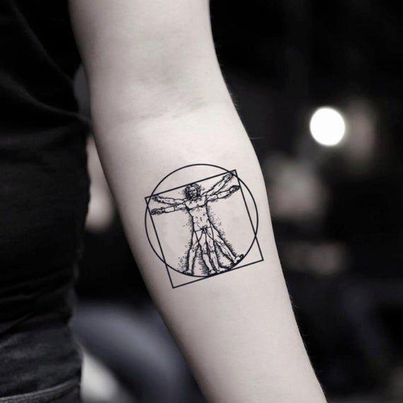 Da Vinci Temporary Fake Tattoo Sticker Set of 2 | Etsy