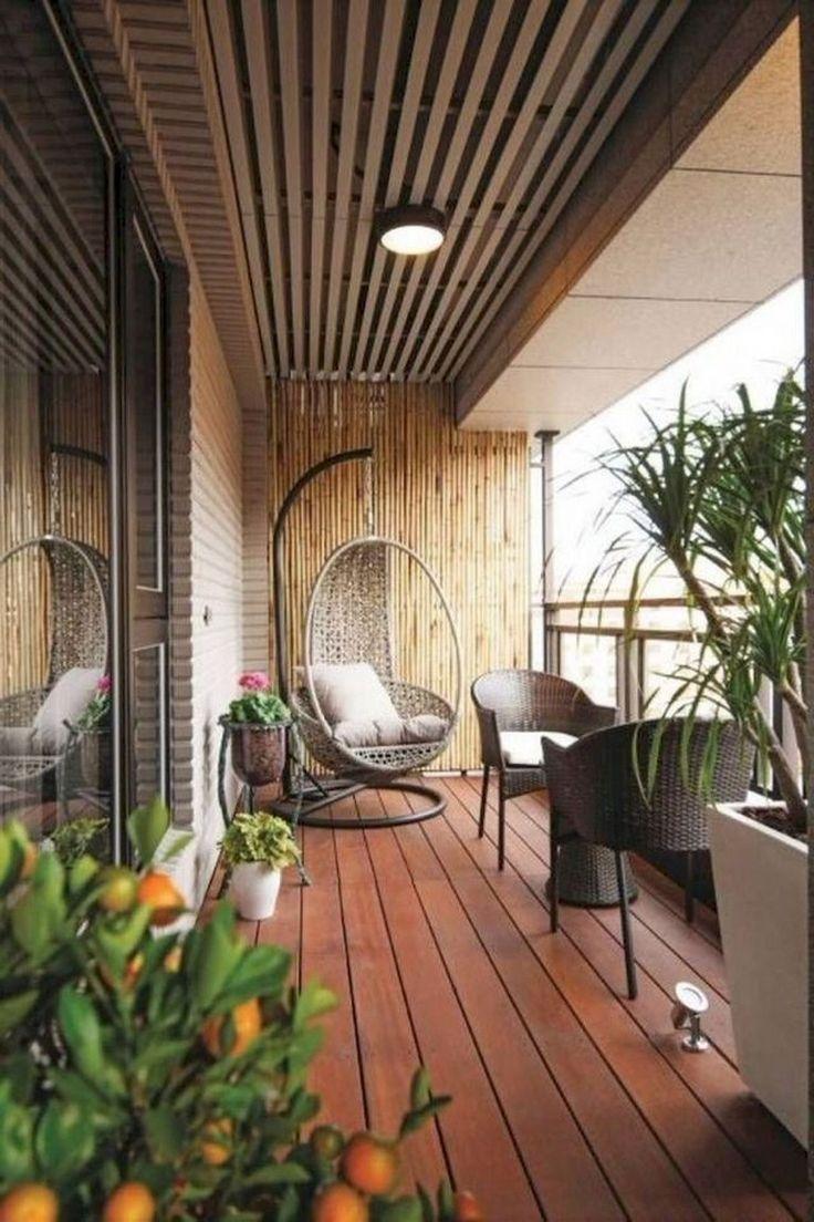 80+ Beste kleine Wohnung Balkon Deko-Ideen - Rumahouse #balkondeko