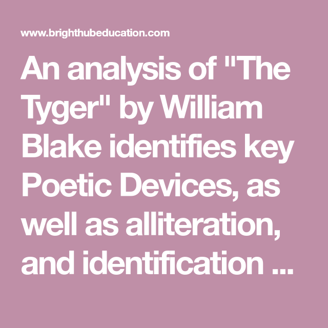 the tyger by william blake meaning