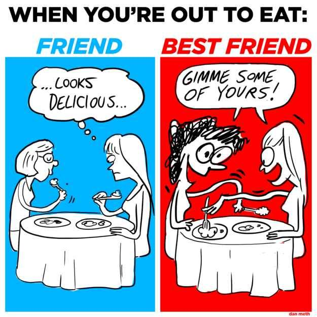 Funny Memes To Cheer Up Your Friend : How you act around your friends vs best friend bff