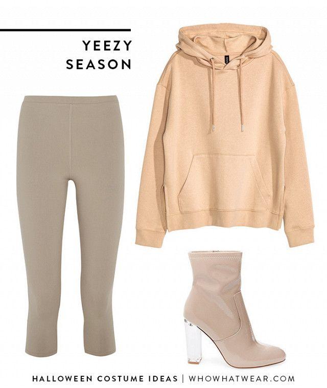 Hoodie sweatshirt + leggings + heeled booties \u003d Yeezy Season