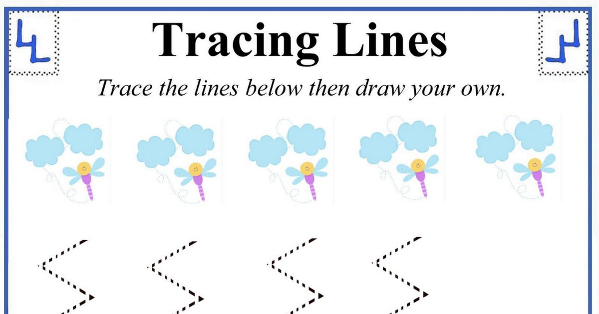 Tracing Lines 6 Pdf Line