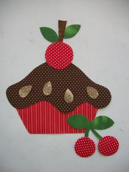 Aplique Torta de cereja pinturas e path aplick Pinterest