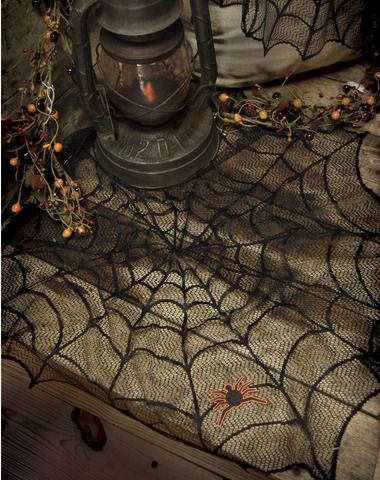Spiderweb 30 inch Round Tablecloth Wedding folder Pinterest - spider web decoration for halloween