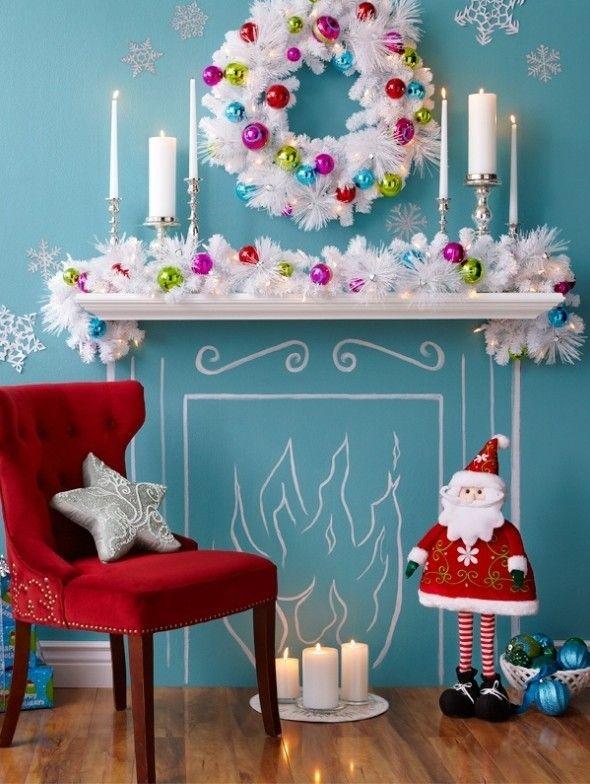 2013 christmas bedding room decor christmas colorful ball garland