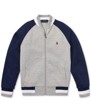 d9dc518e7 Polo Ralph Lauren Big Boys Cotton Baseball Jacket - Andover Heather Multi