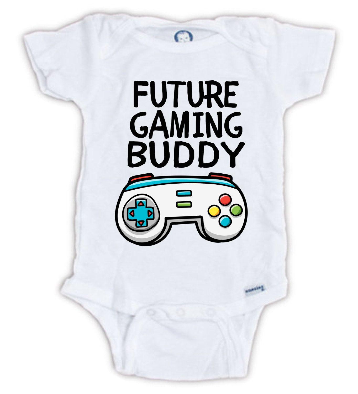 FUTURE GAMING BUDDY Baby esie Baby Bodysuit Gamer esie Baby Shower Gift