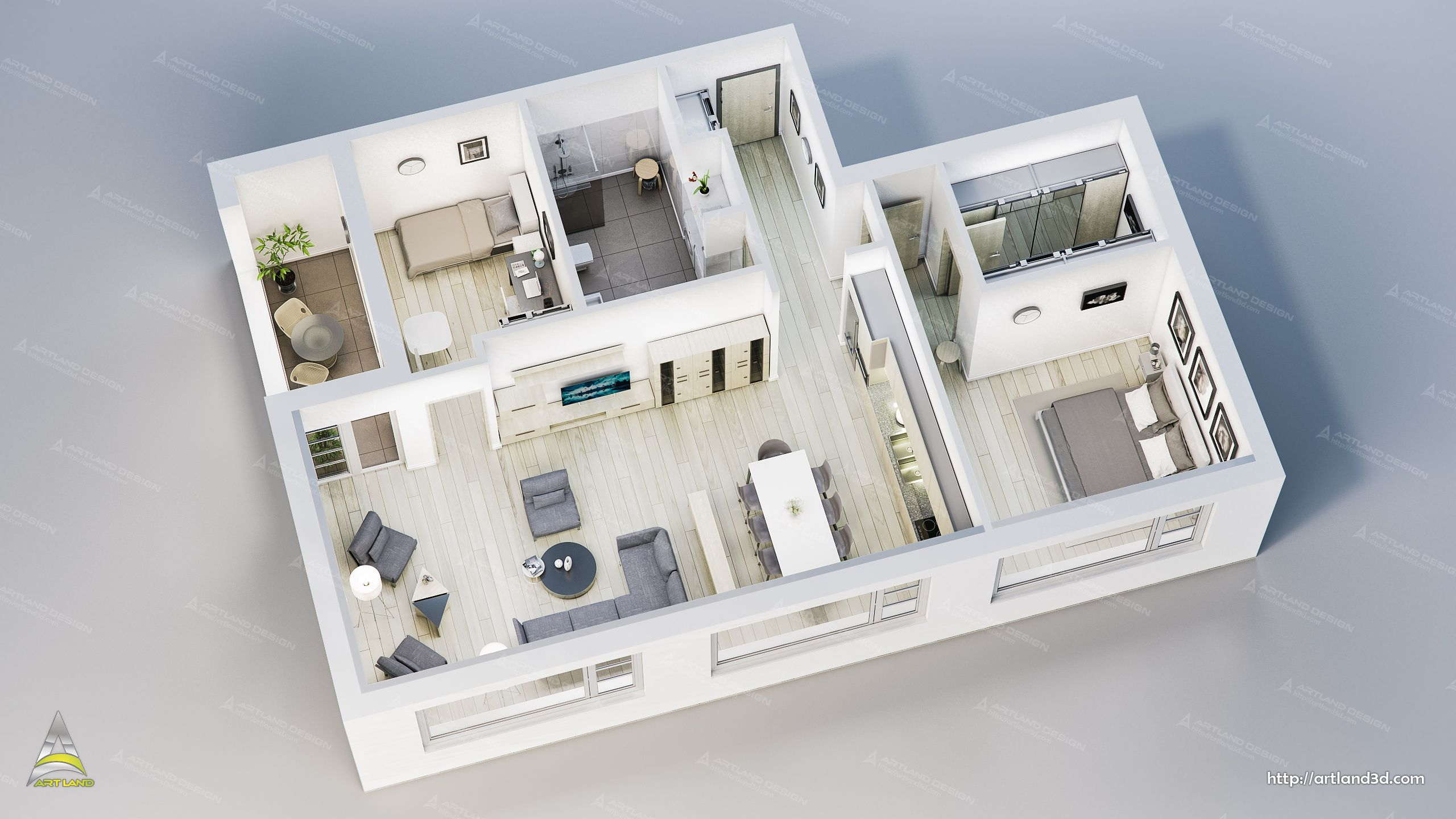 Floor Plan 3d Visualization House Interior 3d Design Modeling