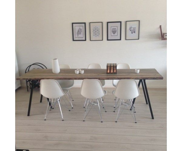 32 Stylish Dining Room Ideas To Impress Your Dinner Guests: Spisebord, Plankebord, Hay Ben/ Rustik Bord, B: 70 L: 250