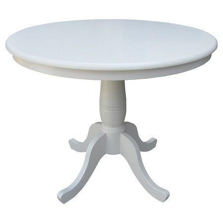 "Round Pedestal 36""Dining Table International Concepts Tar"