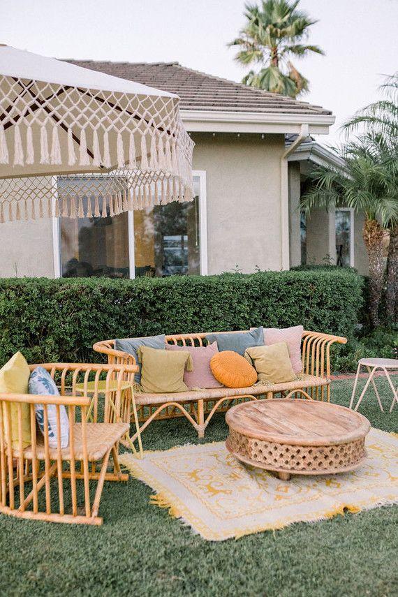 Modern pastel backyard first birthday party | Birthday ...