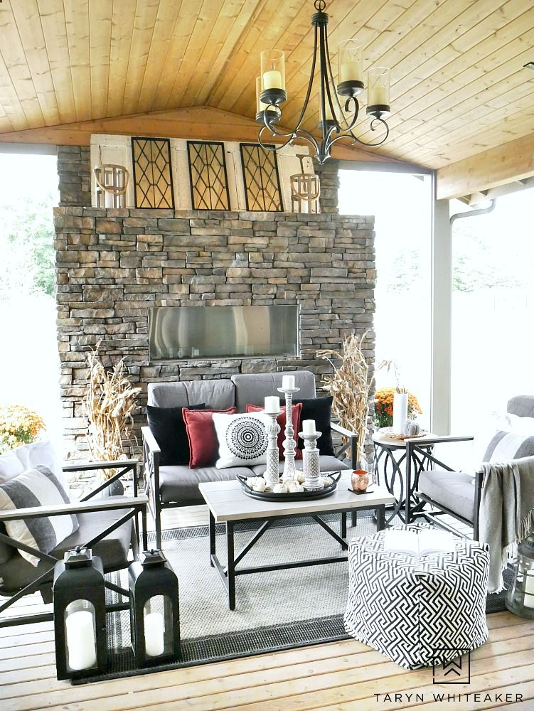 Fall Outdoor Living Space Pinterest