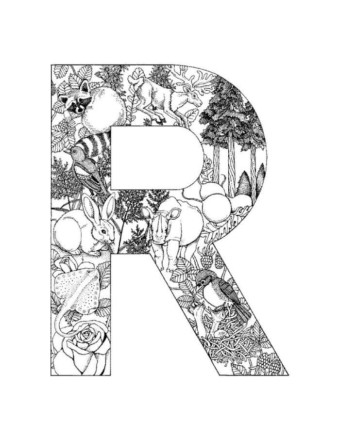 Alphabet Coloring Pages Detailed Coloring Pages Pattern Coloring Pages Designs Coloring Books