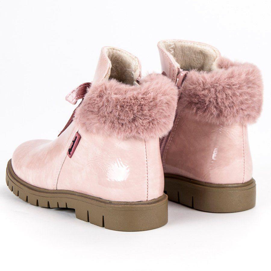Kozaki Dla Dzieci Americanclub American Club Rozowe Lakierowane Botki American Boots Ugg Boots Slippers