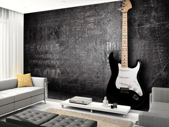 Electric Guitar Wall Mural Pinterest Guitar wall Wall murals