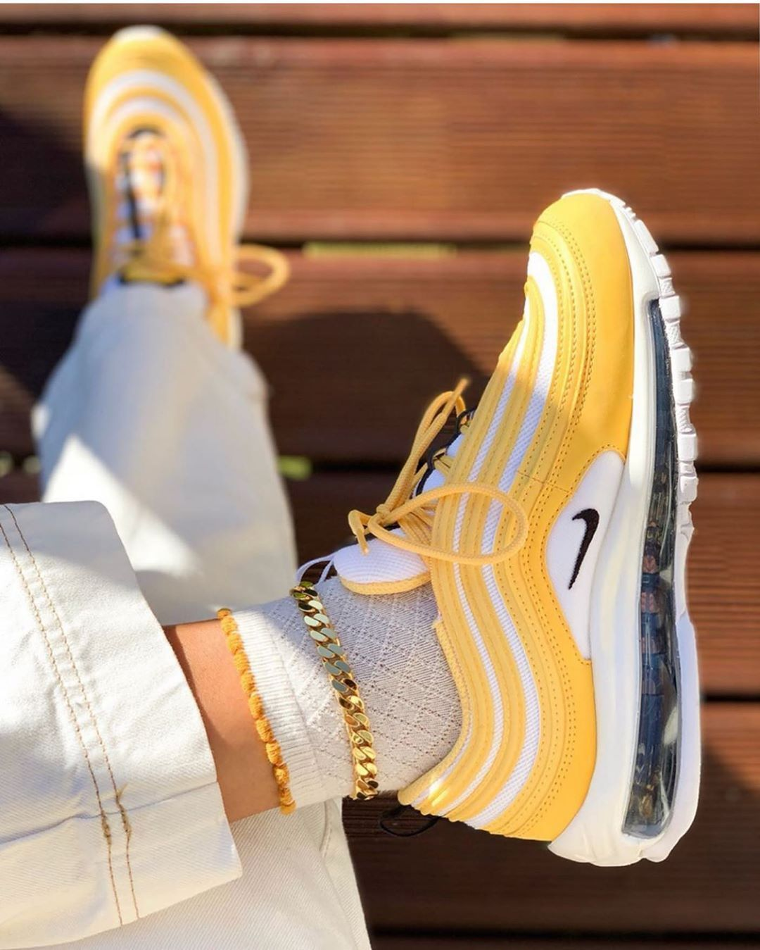 Nike Airmax 97 X Essential These 97s Are Looking So Good On Foot Shouts To Sallyssneakers On Her Pair Nike Air Max 97 Nike Air Max Air Max 97