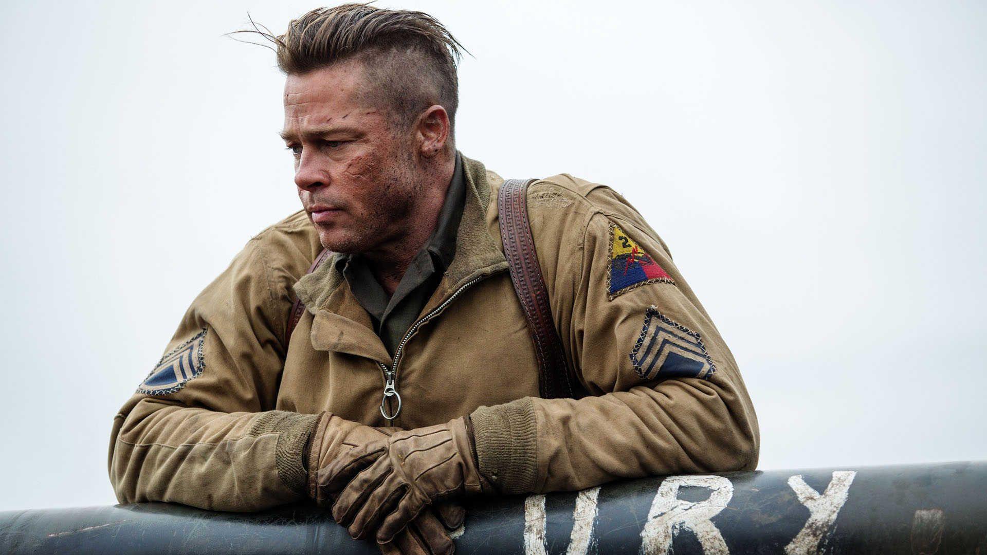 Brad Pitt Fury Movie Wallpaper Jpg 1920 1080 Brad Pitt Brad Pitt Fury Fury Movie