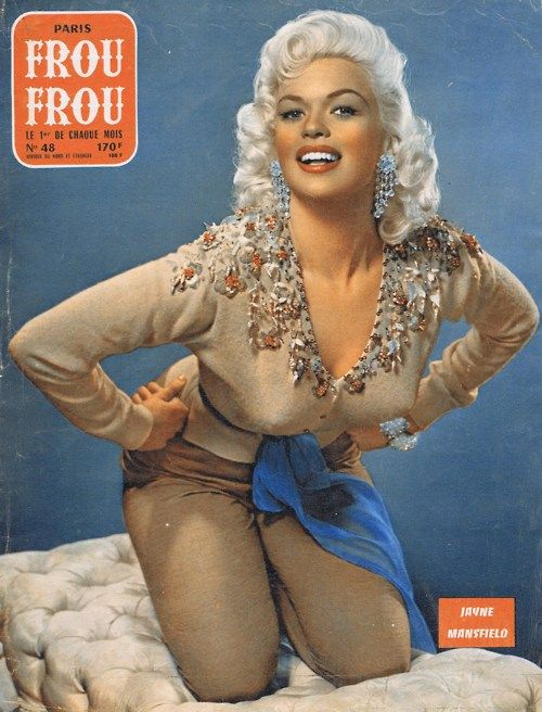 Jayne Mansfield for Paris Frou Frou magazine, 1957