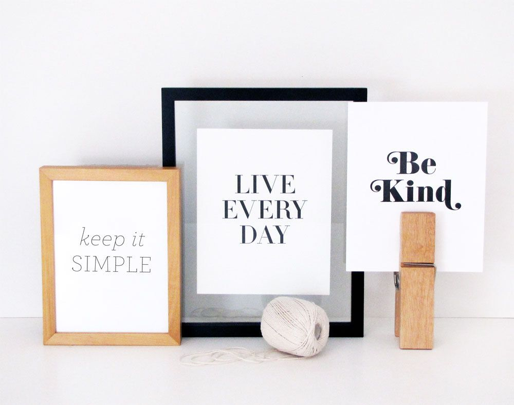 Set of 3 Letterpress Prints of your choice via Etsy. i want