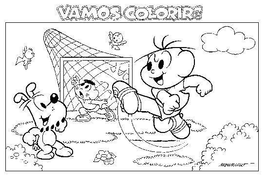 Desenhos Da Turma Da Monica Nas Olimpiadas Para Colorir Pintar