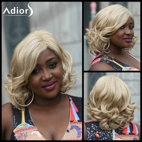 18.32$  Buy here - http://dizkx.justgood.pw/go.php?t=149563201 - Adiors Wavy Medium Side Part Fluffy Synthetic Wig 18.32$