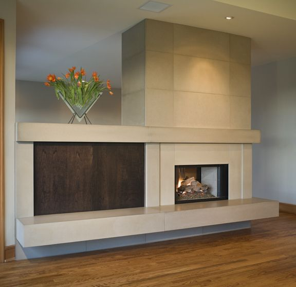 Solus tiled fireplace with custom hearth and custom mantels, Photo ...