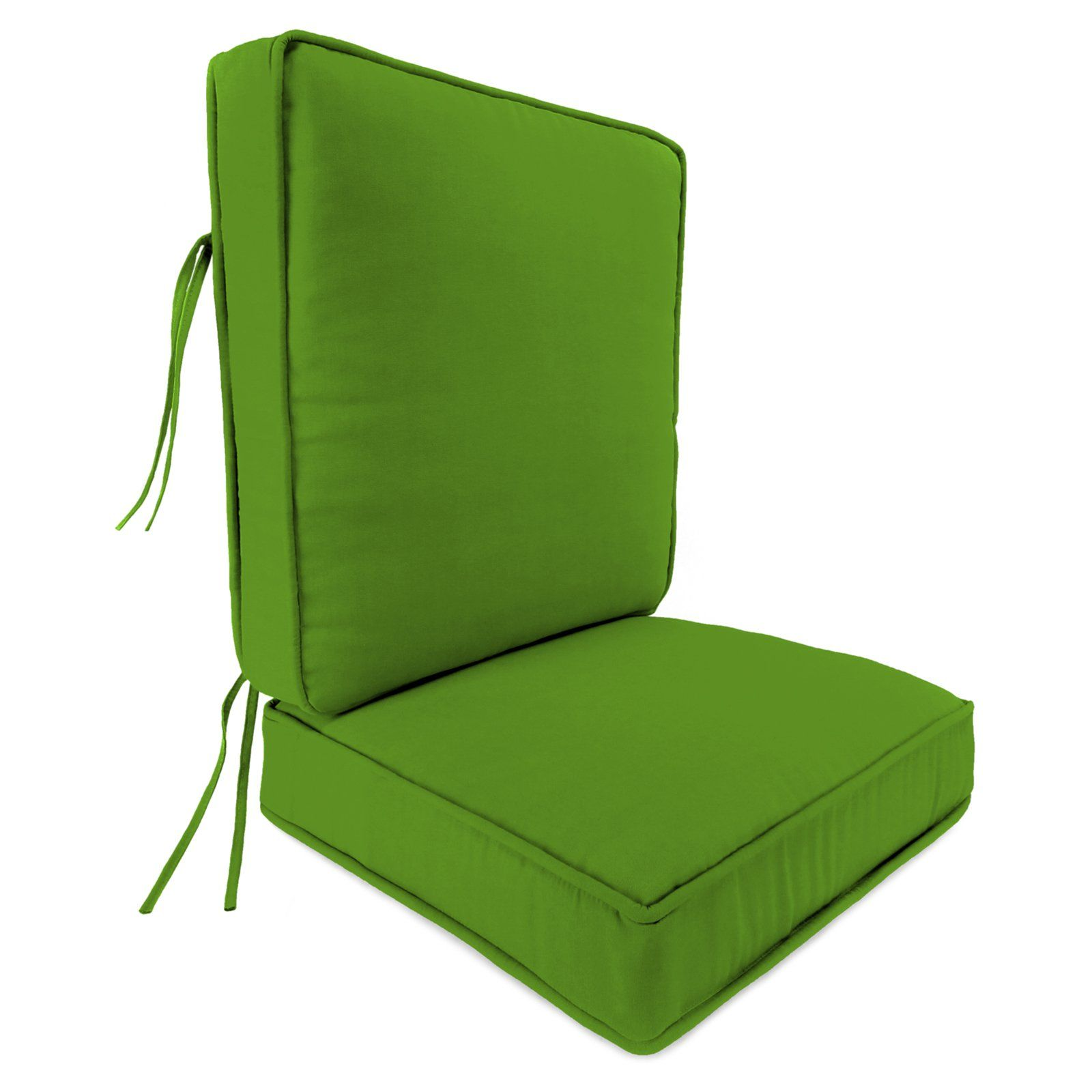 Jordan Manufacturing 24 X 22 5 In Outdoor Boxed Cushion With Cording Veranda Citrus