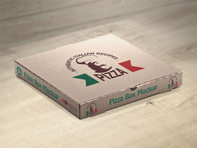 Download Free Customizable Pizza Box Mockups by | Box mockup ...