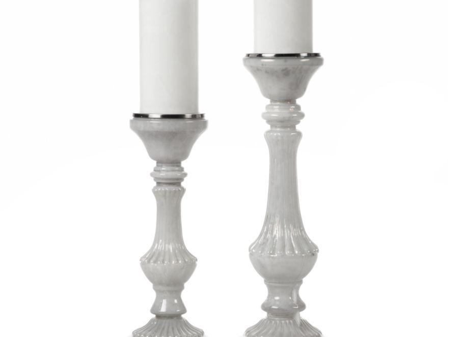Z Gallerie - Heirloom Pillar Holders - White