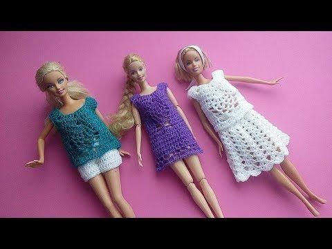 Vestido Para Barbie Piñas Youtube Barbie Kleertjes Pinterest