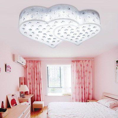 Led Heart Kid S Room Led Ceiling Fixtures Cute Acrylic Girl S Room Ceiling Lamps Princess Bedroom C Ceiling Lights Ceiling Lamp Bedroom Ceiling Light