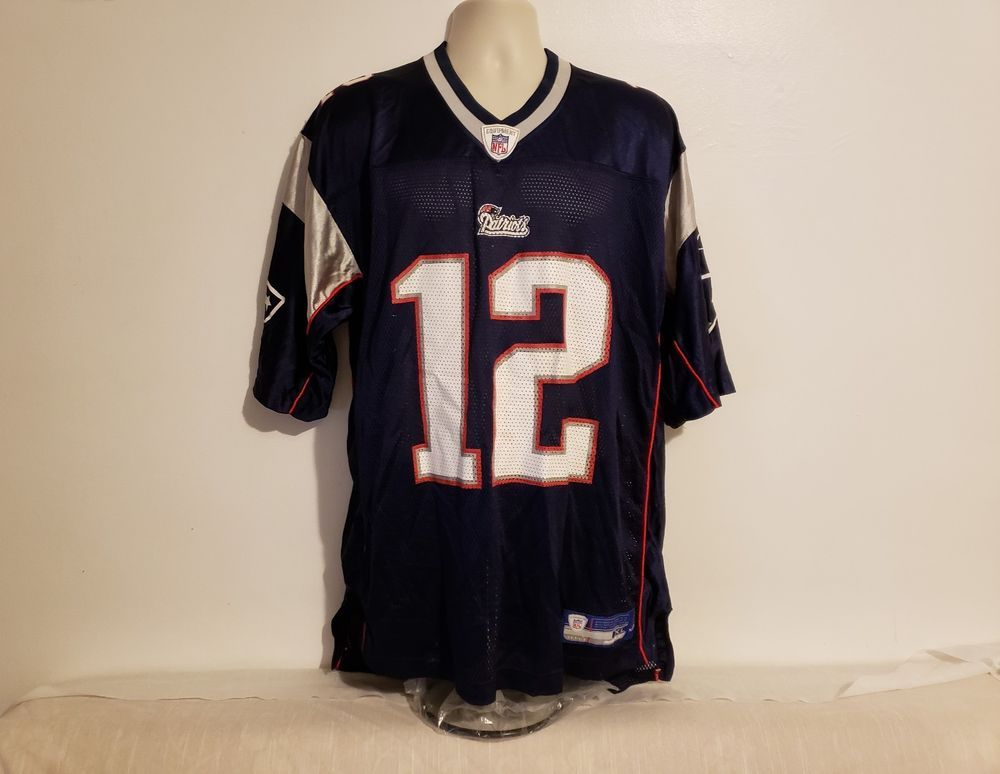 9028ab0ba NFL New England Patriots Tom Brady  12 Adult Blue XL Football Jersey  Reebok   NewEnglandPatriots