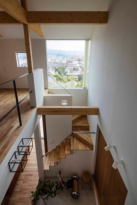 House In Ikoma Has A Central Void That Stretches All The Way Up To