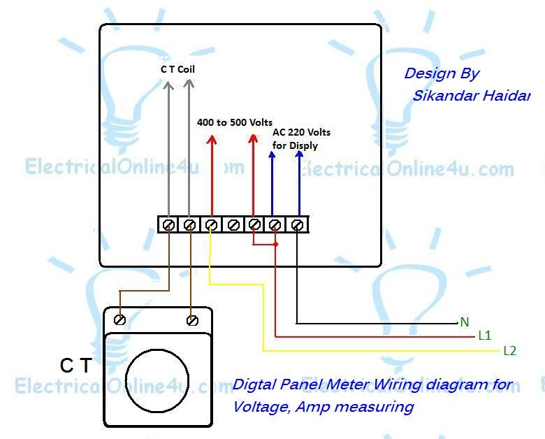 Digital Multi Panel Voltmeter Ammeter Hz Wiring With Diagram And Images Photoshop Cs5 Photoshop Adobe Photoshop