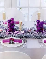 Silver Christmas Table Decorations Purple And Silver Christmas Christmas Table Decorations Christmas Centerpieces Christmas Table
