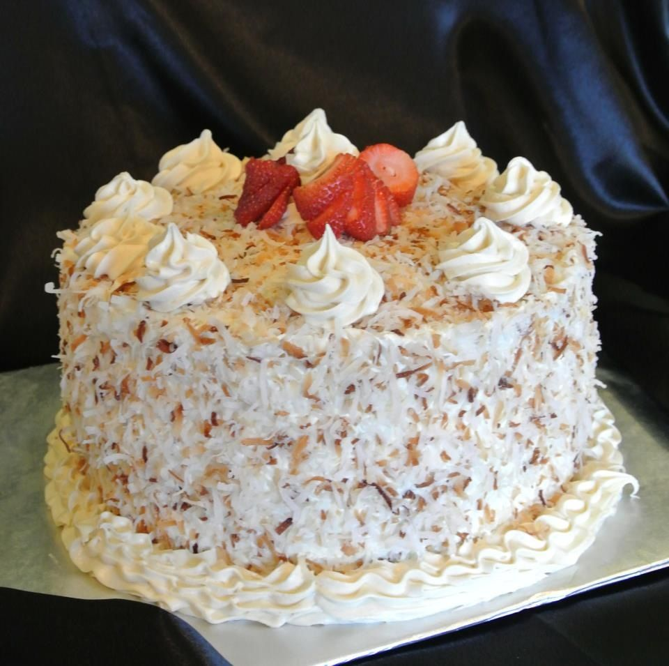 Cake With Cream Filling : 7 layer coconut cake with cream filling Twisted Icing ...
