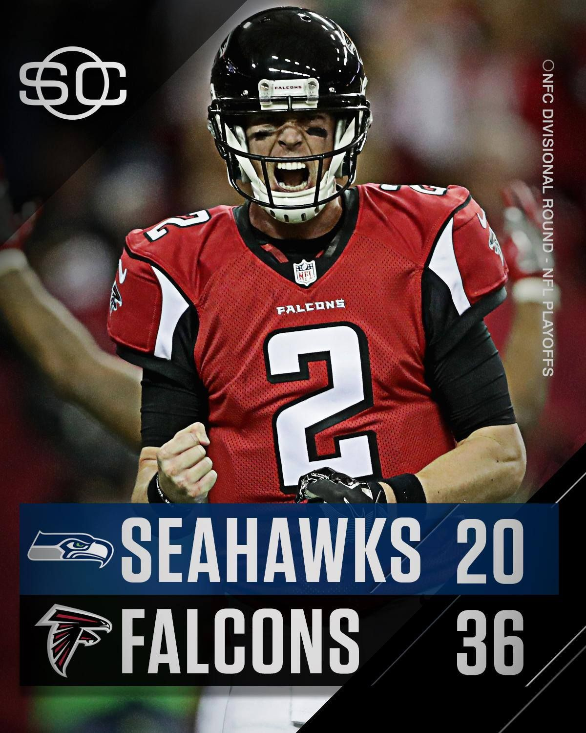 Rise Up Atlanta Falcons Dominate Seattle Seahawks To Win Their 1st Playoff Game Since Defeating Seattle In The 2012 Divis Nfl Playoffs Atlanta Falcons Falcons