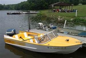 70s Yellow Boat With Images Boat Restoration Old Boats