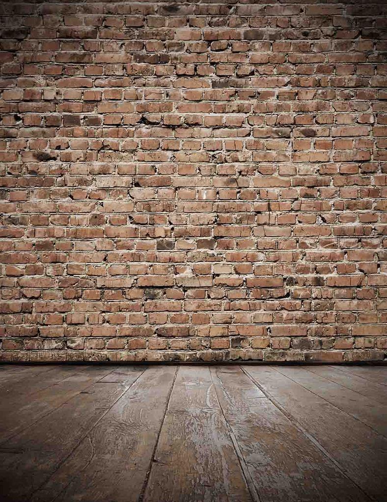 Senior Red Brick Wall With Old Brown Wood Floor Photo Backdrop Brick Backdrops Red Brick Walls Painted Brick Walls